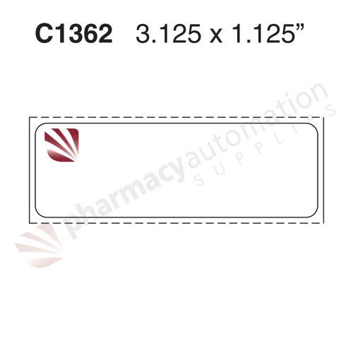 "Custom 3.125"" x 1.125"" Direct Thermal Prescription Label - Form C1362"