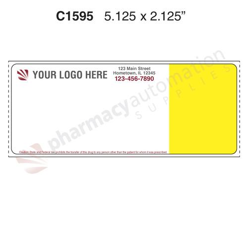 "Custom 2.125"" x 5.125"" Direct Thermal Prescription Label - Form C1595"
