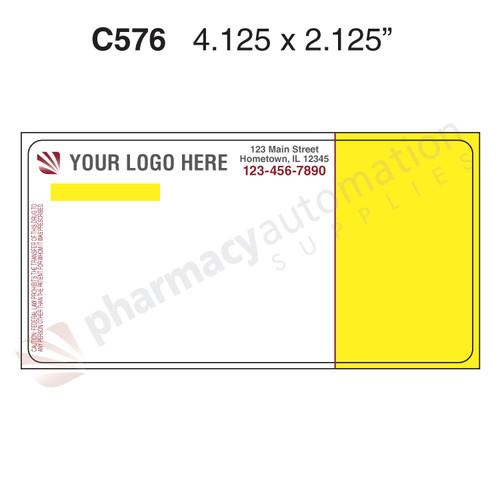 "Custom 2.125"" x 4.125"" Direct Thermal ScriptPro Label - Form C576"