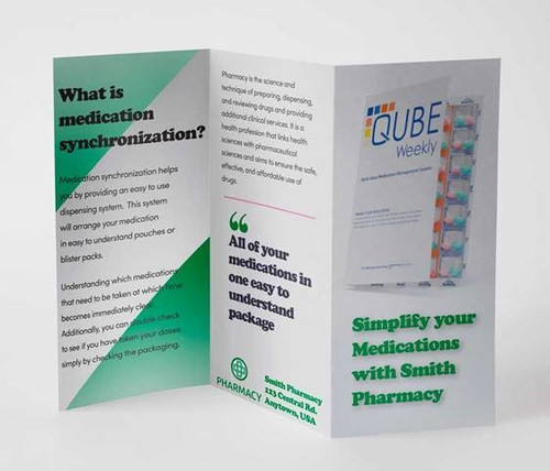 "Custom 8.5"" x 11"" Tri-Fold Brochure, Full Color"