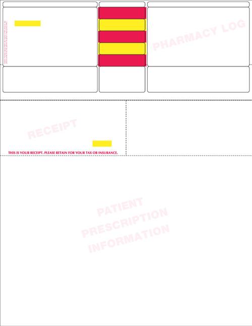 "Stock 8.5"" x 11"" Rx Laser Label - Form LM014 SW"