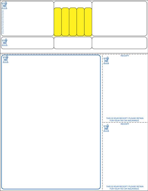 """Stock 8.5"""" x 11"""" Prescription Laser Label - Form LM022"""