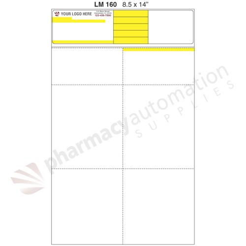 "Custom 8.5"" x 14"" Prescription Laser Label - Form LM160-14"