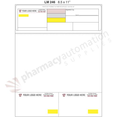 "Custom 8.5"" x 11"" Prescription Laser Label - Form LM246"