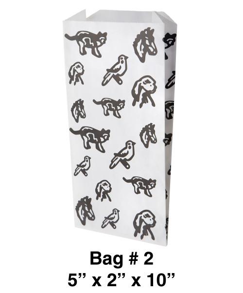 "Stock Paper Veterinary Bag Size #2 (5"" x 2"" x 10"")"
