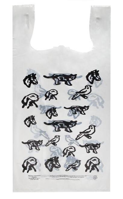 "Stock Veterinary Printed 11.5"" x 6.5"" x 21"" Plastic T-Shirt Style Bag"
