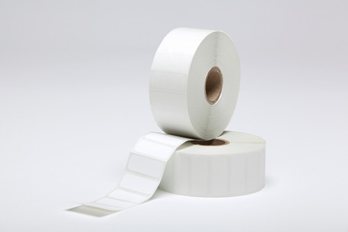 "Stock White Direct Thermal Labels - 1.25"" x 0.5"""