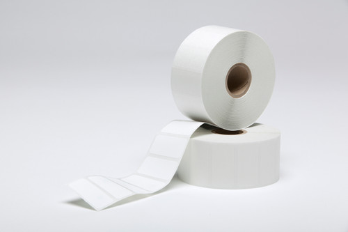 """Stock White Thermal Transfer Labels - 1.5"""" x 0.75"""""""
