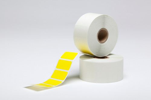 """Stock Yellow Thermal Transfer Labels - 1.5"""" x 0.75"""""""