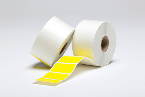 """Stock Yellow Thermal Transfer Labels - 1.75"""" x 1"""""""