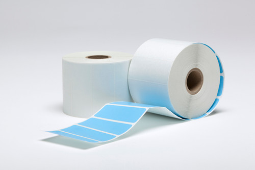 """Stock Blue Thermal Transfer Labels - 2.5"""" x 1"""""""
