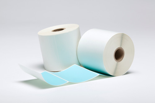 "Stock Blue Thermal Transfer Labels - 3"" x 3"""