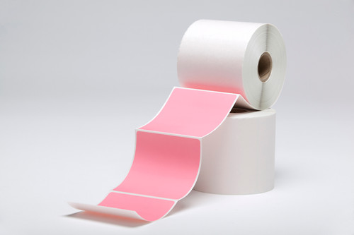 """Stock Pink Thermal Transfer Labels  - 3"""" x 3"""""""