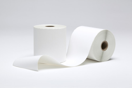 """Stock White Direct Thermal Continuous Label 4"""" x 155'"""