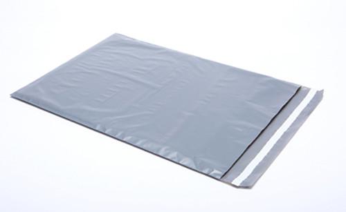 "Stock Heavy Duty Plastic Gray Security Mailer, 14"" x 19"""