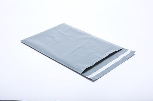 "Stock Heavy Duty Plastic Gray Security Mailer, 6"" x 9"""