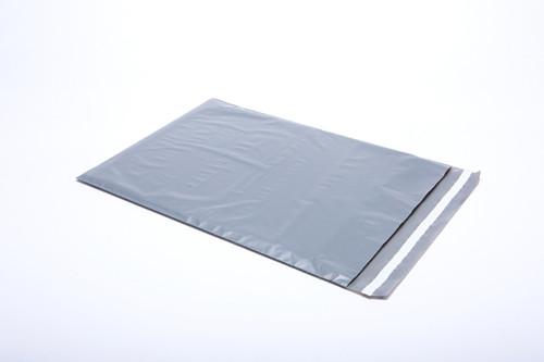 "Stock Heavy Duty Plastic Gray Security Mailer, 9"" x 12"""