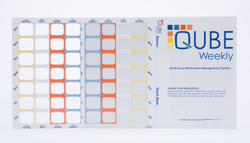 QUBE Weekly (28 cavity) Cold-Seal Compliance Card