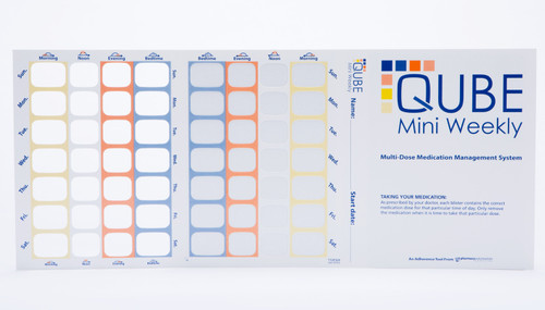 QUBE MINI Weekly (28 cavity) Cold-Seal Compliance Card