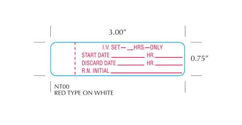 "Stock .75"" x 3"" IV Set Change Label"