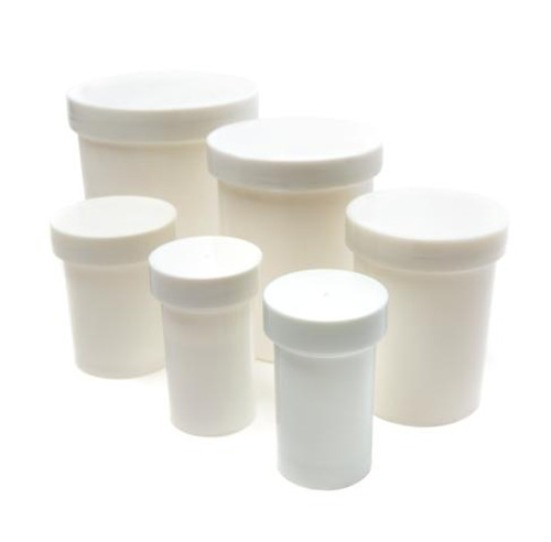 Economy White Plastic Ointment Jars