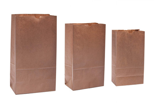 Stock Paper Unprinted Brown Kraft Bags