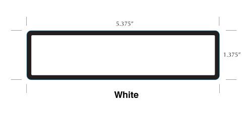 """Stock 1.375"""" x 5.375"""" Patient Chart Label"""