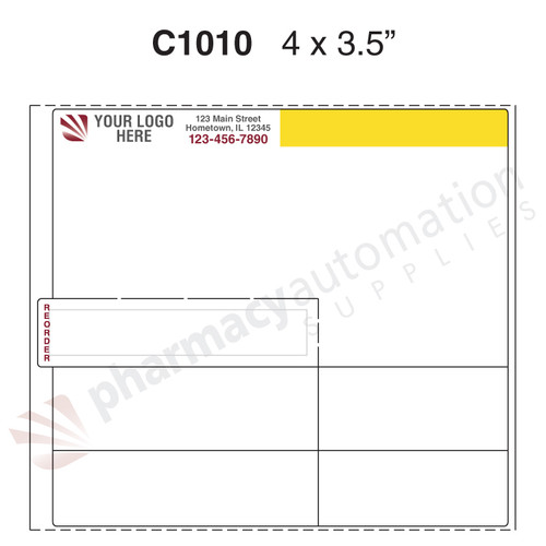 "Custom 4"" x3.5"" Thermal Transfer Label - Form C1010"