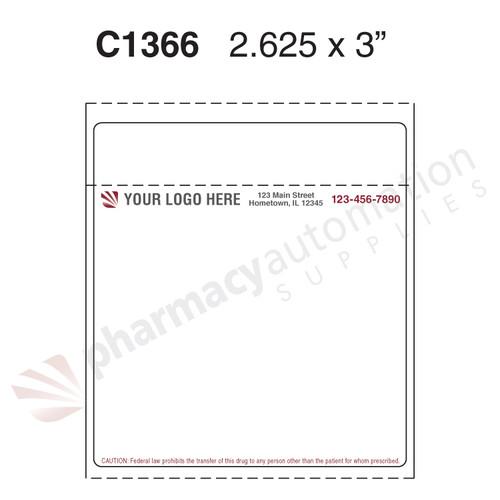 "Custom 2.75"" x 3"" Thermal Transfer Label - Form C1366"