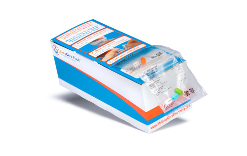 "Custom Printed Strip Rx Box #3 for Patient Admin of Medication 7.75"" x 3"" x 2.875"""