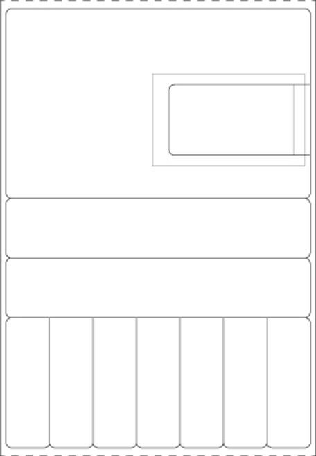 "Custom 3.625"" x 5.25"" Direct Thermal Label - Form C1179"
