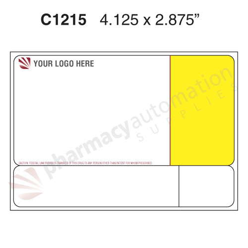 "Custom 2.875"" x 4.125"" Direct Thermal Label - Form C1215"