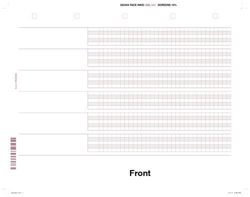"Custom 8.5"" x 11"" Patient Treatment Record (PTR) Form"