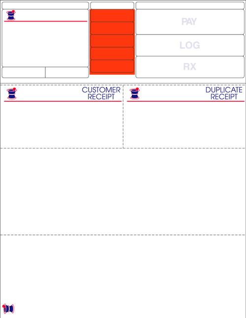 """Stock 8.5"""" x 11"""" Prescription Laser Label - Form LM010"""