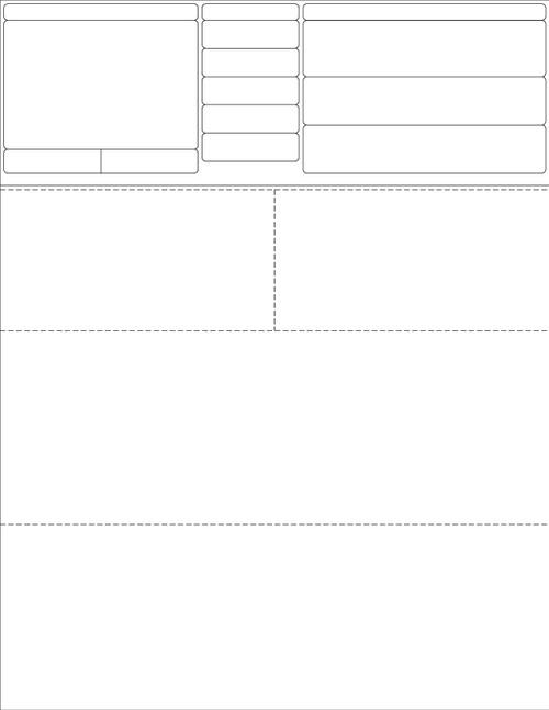 "Stock 8.5"" x 11"" Prescription Laser Label - Form LM010 (Unprinted)"
