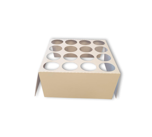 """Prepackaged tube holder for shipping and display of 1.25"""" diameter tubes"""