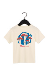 """Mushroom Shirt in American Sign Language. ASL sign for Mushroom on a natural background with the word """"Mushroom"""" beneath. Perfect for Deaf people, new signers and ASL students."""