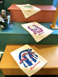 American Sign Language Signs Tea Towel, 100% Unbleached Cotton, ASL tea towels