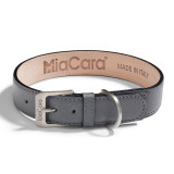 Dog Collar - Torino Graphite_Walk_M/L_www.hugoandotto.com