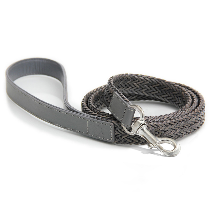 Dog Lead - Firenze Grey_Walk_OneSize_www.hugoandotto.com