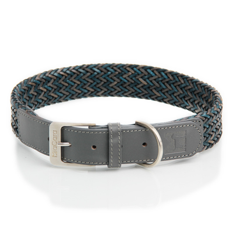 Dog Collar - Firenze Grey_Walk_M/L_www.hugoandotto.com