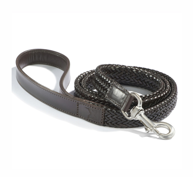 Dog Lead - Firenze Dark Brown_Walk_OneSize_www.hugoandotto.com