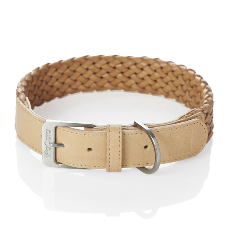 Dog Collar - Venezia Natural_Walk_M/L_www.hugoandotto.com