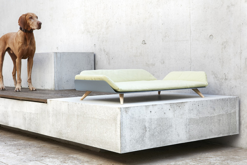 Dog Bed - Letto dayBed Ginger_Sleep_Reddot Design Award Winner 2015_Athos Dog Model Lifestyle_www.hugoandotto.com