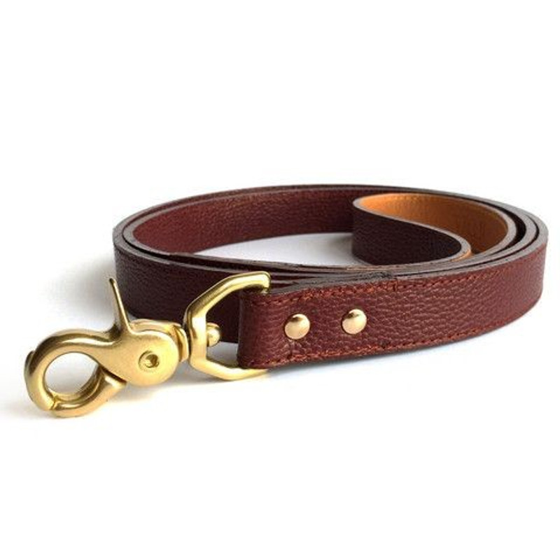 Dog Lead - Bleecker_Walk_Oxblood Woof New York Dog Lead_www.hugoandotto.com