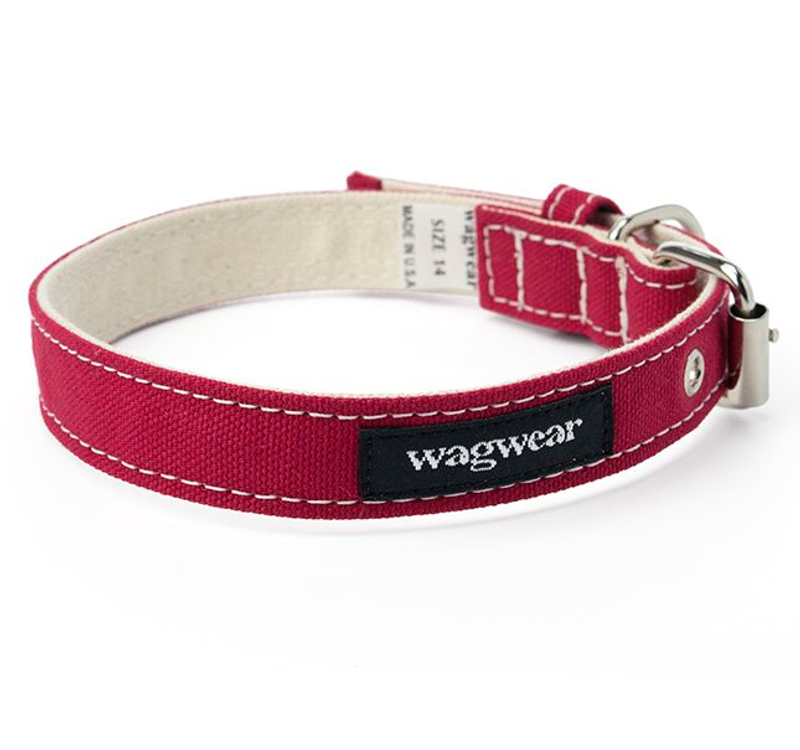 Dog Collar - Red Boat Canvas Collar_Wagwear_www.hugoandotto.com