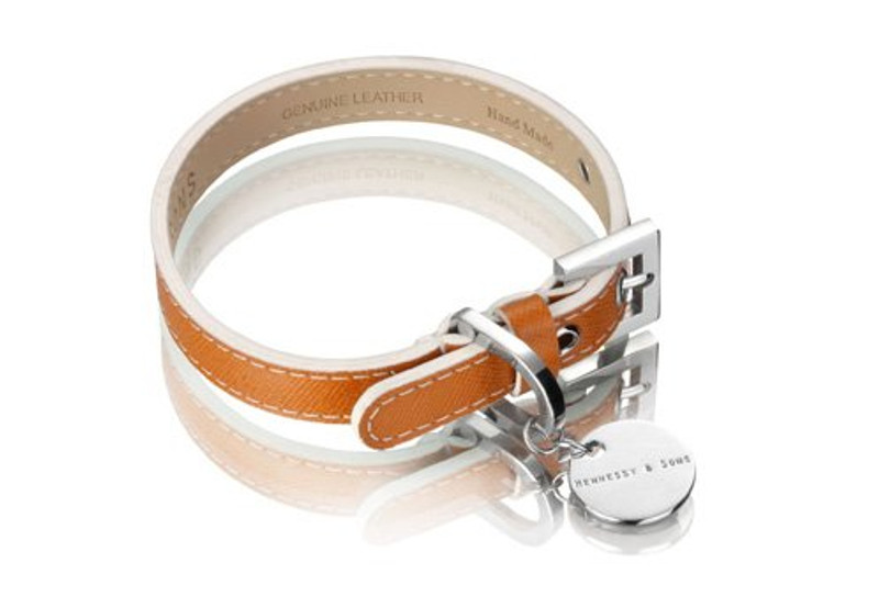Dog Collar - Oxford Selection_Saffiano Luggage_www.hugoandotto.com