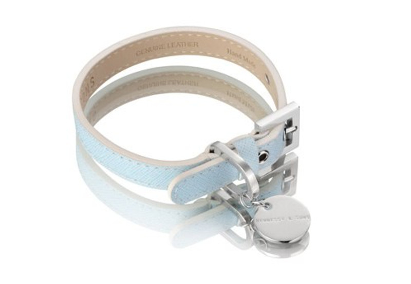 Dog Collar - Oxford Selection_Saffiano Light Blue_www.hugoandotto.com