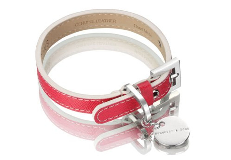 Dog Collar - Oxford Selection_Saffiano Fuchsia_www.hugoandotto.com