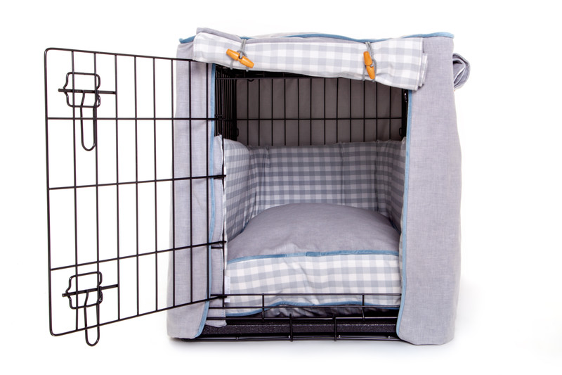 Hugo_and_Otto_Great_Tew_Cosy_Dog_Crate_Cover_Side_Door_Opening_dressed_with_Bumpers_boxy_Cushion_jpeg